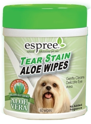 Espree Tear Stain Wipes, 60ct