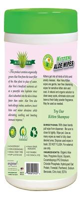 Espree Kitten Aloe Wipes, 50ct