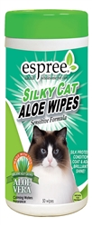 Espree Silky Cat Aloe Wipes, 50ct