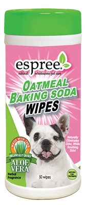 Espree Oatmeal Baking Soda Wipes, 50ct