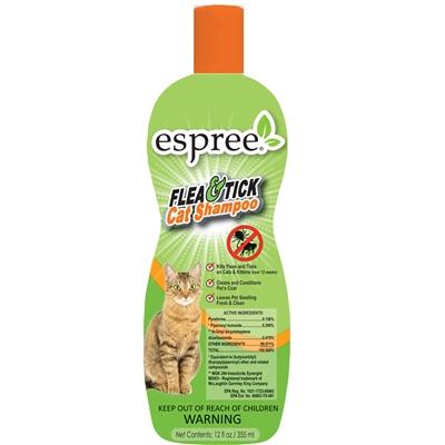 Espree Flea & Tick Cat Shampoo, 12oz