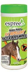Espree Aloe Herbal Horse Face & Body Wipes, 40ct