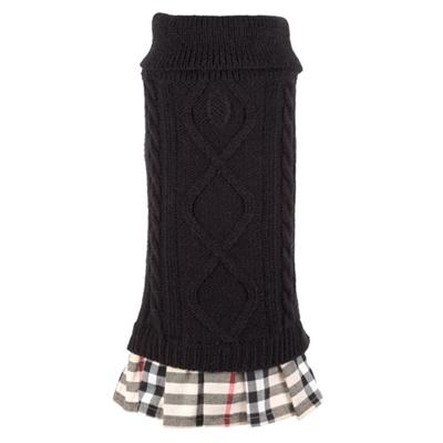 Turtleneck Black/Tan Dress
