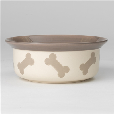 Stitched Bones Bowls in Natural / Taupe