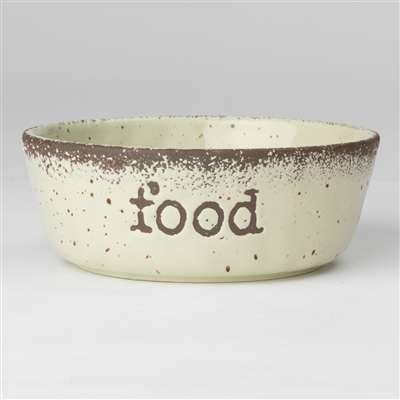 FOOD and WATER Crockery Bowls in Natural Speckled