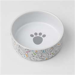 Curlycue Bowls in White Multi, 2 cups