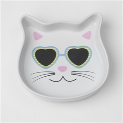 Stud Kitty Blue Saucer, 4oz