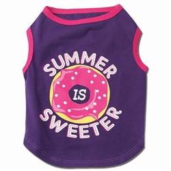 Summer is Sweeter Tee in Purple / White