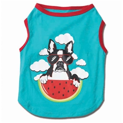 Watermelon Dog Tee in Aqua