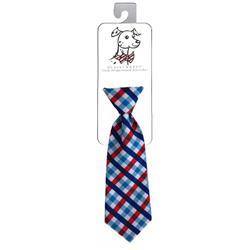 Huxley & Kent Picnic Check Long Tie, Delivers March 2019