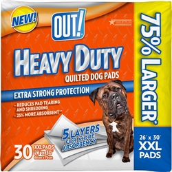 OUT! Heavy Duty XXL Dog and Puppy Pads, 26 by 30 inches, 30 Pads