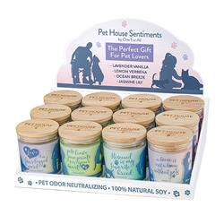 Pet House Candles, Sentiments Display