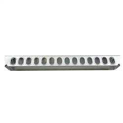 Poultry Feeder 24in Slide Top Chick Galvanized Steel from Harris Farms