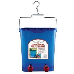 Poultry Drinker Waterer Cup Drinker 4 Gallon from Harris Farms