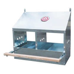 Poultry Nesting Box 2 Hole Galvanized Steel from Harris Farms