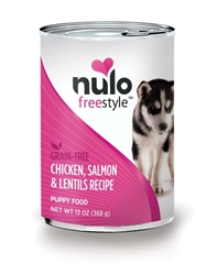 Nulo FreeStyle Grain Free Chicken Salmon Lentil Puppy Food Canned 12ea/13oz