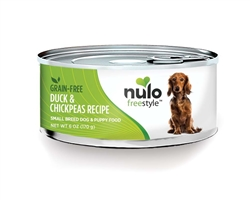 Nulo FreeStyle Grain Free Duck Chickpea Small Breed Dog Food Canned 24ea/6oz