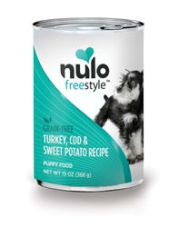 Nulo FreeStyle Grain Free Turkey Cod Sweet Potato Puppy Food Canned 12ea/13oz