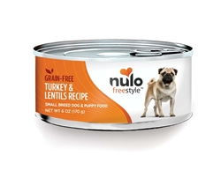 Nulo FreeStyle Grain Free Turkey Lentil Small Breed Dog Food Canned 24ea/6oz
