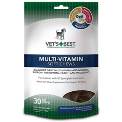 Vet's Best Multi-Vitamin Soft Chews Dog Supplements, 30 Day Supply