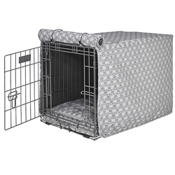 Mercury Micro Jacquard Luxury Crate Cover with Mercury Piping