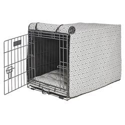 Milky Way Micro Jacquard Luxury Crate Cover with Milky Way Piping