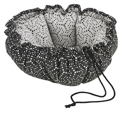 Cosmic Grey Micro Jacquard Buttercup Bed with Milky Way Inner, Cosmic Grey Trim