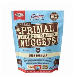 Primal Pet Foods Freeze Dried Food For Cats 5.5oz- Duck