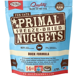 Primal Pet Foods Freeze Dried Food For Cats 14oz- Duck