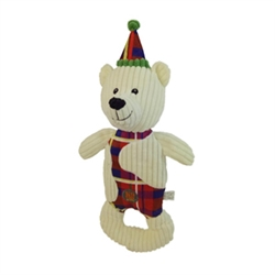 "Christmas Patches 18"" Polar Bear by Charming Pet"