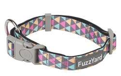FuzzYard Pop (Grey/Multicolored Triangles) Collar and Lead Collection