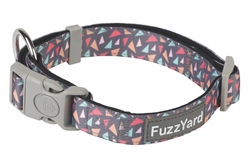 Rad (Charcoal w/ Pink, Orange & Green Triangles) Collar and Lead Collection