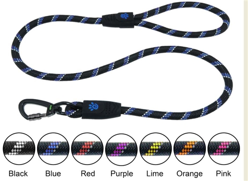 DOCO® 5ft Reflective Rope Leash W/ soft Rubber Handle Ver. 5 - Click & Lock Snap