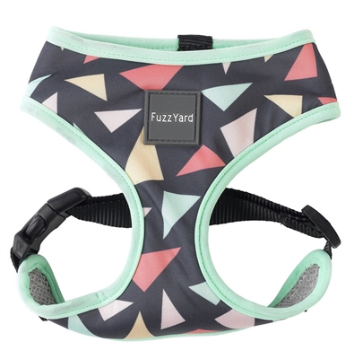 Rad (Charcoal w/ Pink, Orange & Teal Triangles) Dog Harness