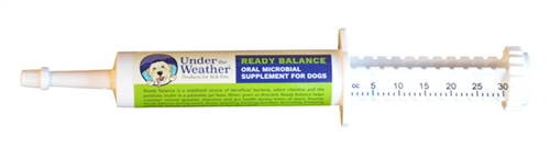 Ready Balance Probiotic Gel for Dogs 12 pack display, 30g dispensers by Under the Weather