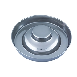 "Stainless Steel Puppy Saucer 15"" diameter - Shallow Dog Dish / Puppy Pan by QT Dog"