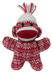 Crystal Holiday Baby Sock Monkey by Lulubelles Power Plush