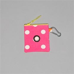Polka Dot Canvas Pouch