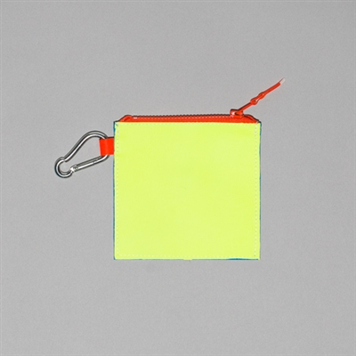 Neon Leather Colorblock Pouch