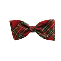 Red Plaid Bow Tie by Huxley & Kent