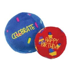 KONG Occasions Birthday Balls Plush Dog Toy