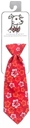 Huxley & Kent - Red Hibiscus Long Tie