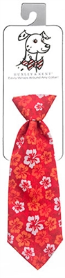 Red Hibiscus Long Tie by Huxley & Kent