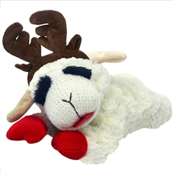 "Multipet - 10.5"" Laying Lamb Chop with Antlers"