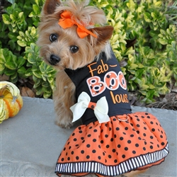 Fab-Boo-Lous Halloween Girls Harness Dress