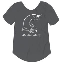 Mantra Mutts Lotus Paw Charcoal Grey Women's Tee