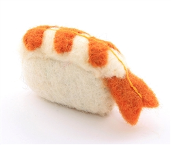Sushi Cat Toy,  Prawn Nigiri