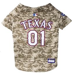 Texas Rangers Dog Jersey  -  CAMO