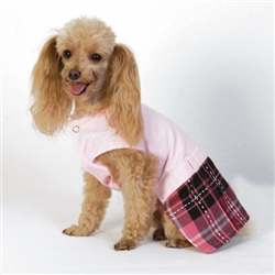 SCHOOL GIRL PINK ARGYLE DRESS