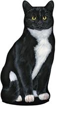Tuxedo Cat Doorstop